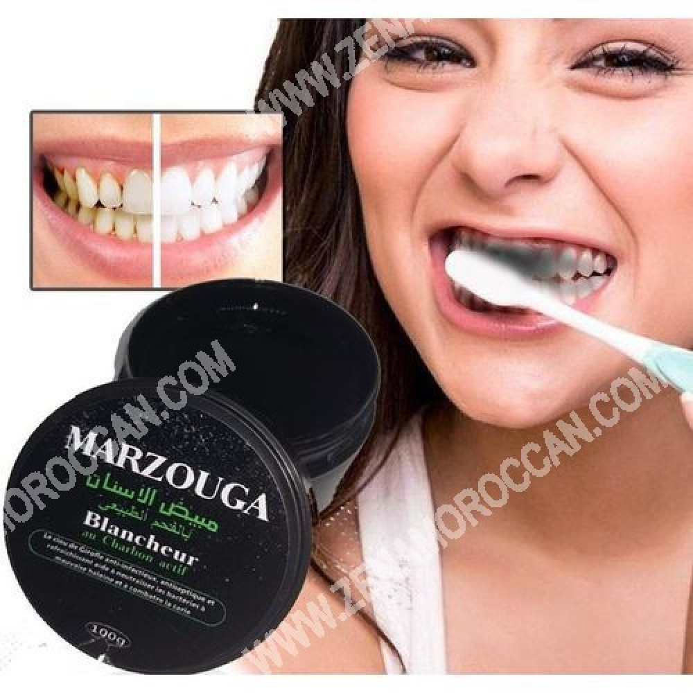 Teeth whitener with natural charcoal