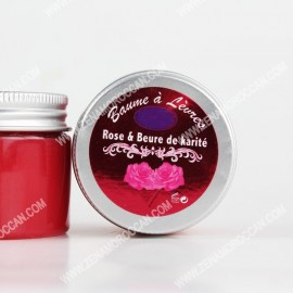 Rose lip balm and shea butter