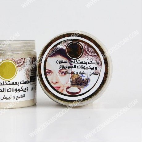 Mask with snail and Sodium bicarbonate