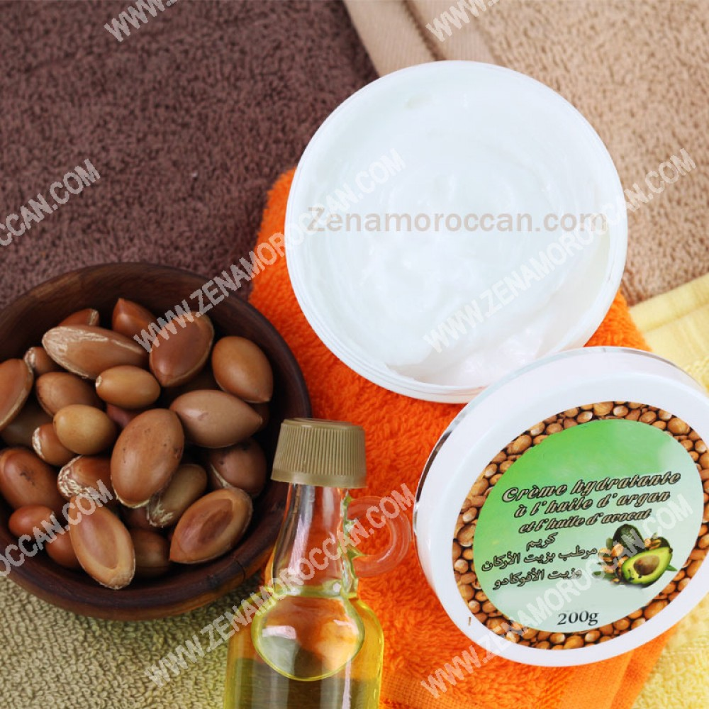 lotion cream with argan oil and avocado oil