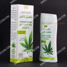 Natural shampoo with green hashish