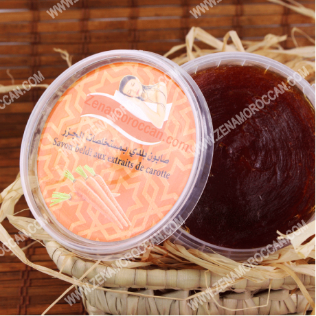 Moroccan soap with carrot