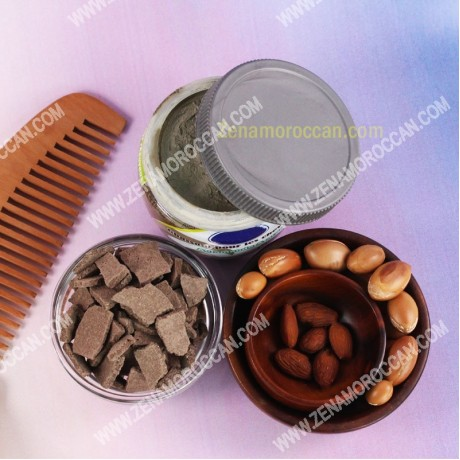 Hair Ghasoul with argan and almond