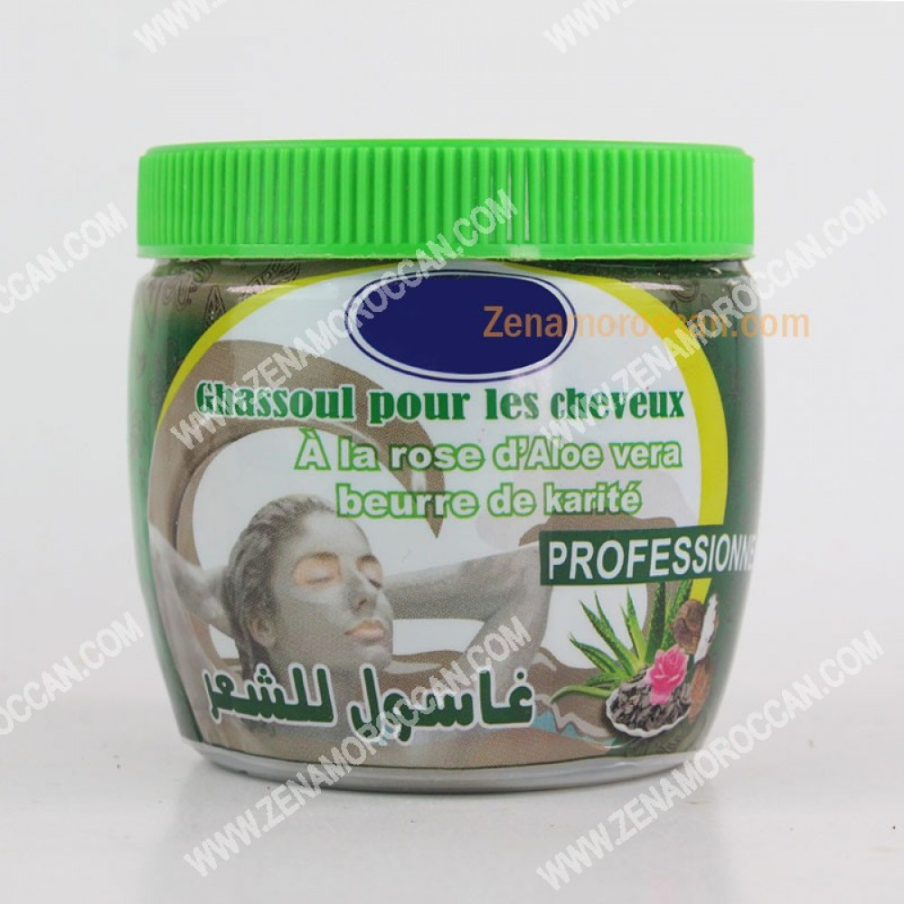 Hair ghasoul with rose and AloeVera-Karite