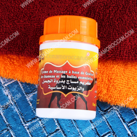 Massage cream with a camel hump